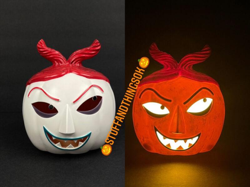 "Disney Nightmare Before Christmas LOCK 6.5""x5.5"" Pumpkin Head Light Up NEW 2021"