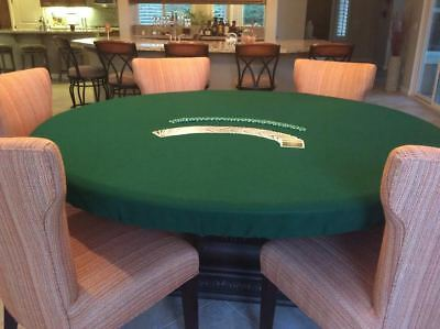 Green Poker Felt Table cover - fits 60