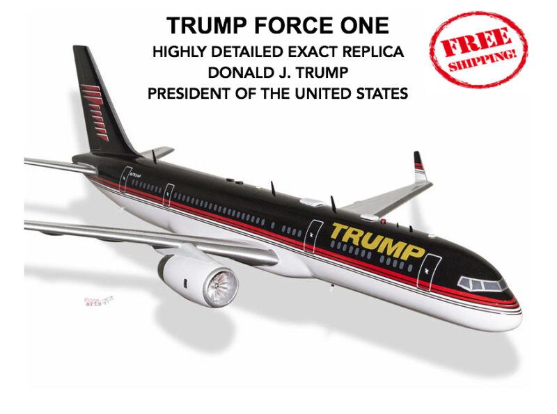 """TRUMP FORCE ONE Donald J. President 757-200 BOEING Plane Jet 17"""" Model Custom"""