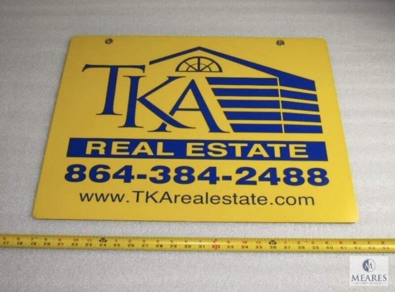 Serial Killer Authentic real estate sign he owned. Todd Kohlhepp