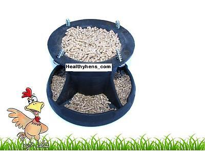 15cm Poultry Pan Feeder chicken pheasant quail eggs Hen Attachment Barrel Feeder