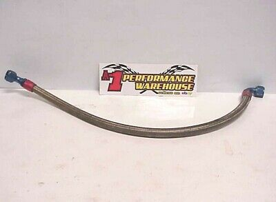 """Goodridge 38"""" Stainless Hose with -12 AN 45° & 90° Reusable Fittings JU362"""