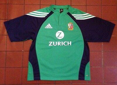 BRITISH & IRISH LIONS - NEW ZEALAND 2005 Tour Green Rugby Union Shirt Jersey L
