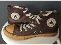 Brown Converse (high tops) size 2.5