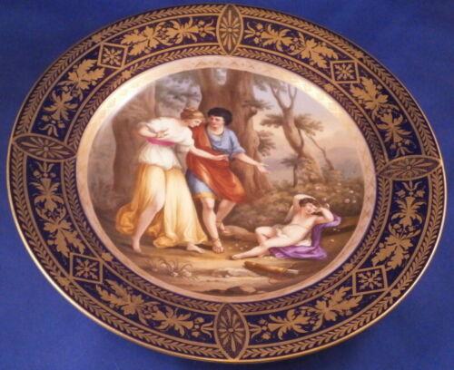 Antique 19thC Royal Vienna Porcelain Scenic Plate Porzellan Teller Scene Austria