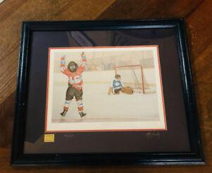 A Set of 4 John Newby Hockey Prints