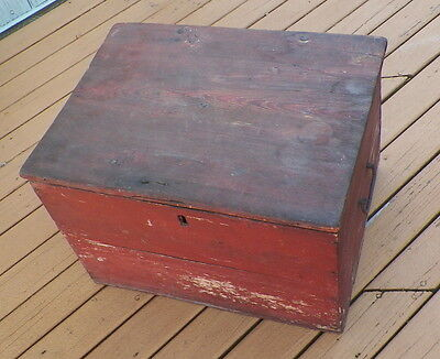18th CENTURY 1781 REVOLUTIONARY WAR ERA LIQUOR & WINE STORAGE SHIPPING BOX CHEST
