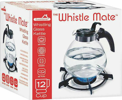 12 Cup Glass Whiste Tea Kettle