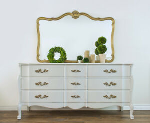 French Provincial Dresser / Sideboard with Mirror