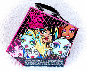 monster high rare make up case storage box bag with mirror