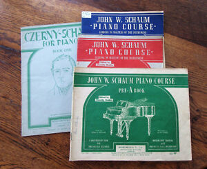 SET of 4 PIANO COURSE BOOKS, VINTAGE