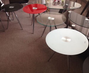 Coffee table,end table, tempered glass,Modern,new in the  boxes