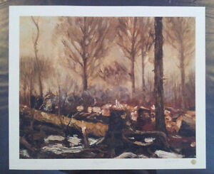 """Limited Edition """"Early March"""" by Tom Thomson Windsor Region Ontario image 5"""