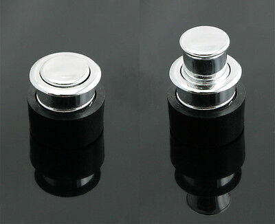 Round Push Pop Out Concealed Drawer Pulls Knobs Sliding Door Handle ABS - FP013