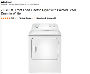 Whirlpool 7.0 cu. ft. Front Load Electric Dryer