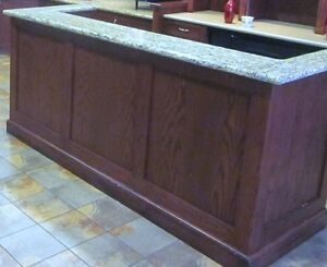 Bar with Granite Counter & Hutch - Beautiful - Nice Pieces Cambridge Kitchener Area image 3