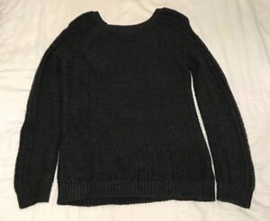 Dark Grey Cableknit Sweater