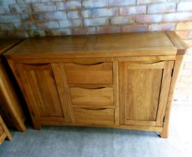 Oak Furniture Land Orrick Rustic Solid Oak Sideboard
