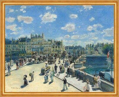 Pierre Auguste Renoir Brücke (Pont Neuf, Paris Pierre-Auguste Renoir Frankreich Brücke Städte Seine B A1 03101)