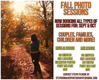 Fall Photo Sessions!! **SALE**
