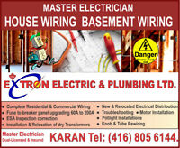 Basement Wiring License Electrician with permit and certificate