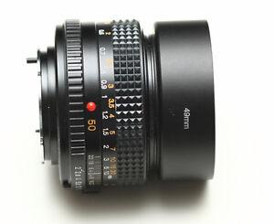 Minolta Rokkor, 50mm f2 MD version lens