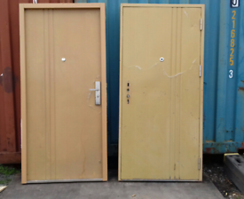 Security doors & frames x 2 / STEEL - FREE DELIVERY