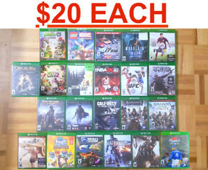 Xbox One Games ( $20 EACH ) Pick up only