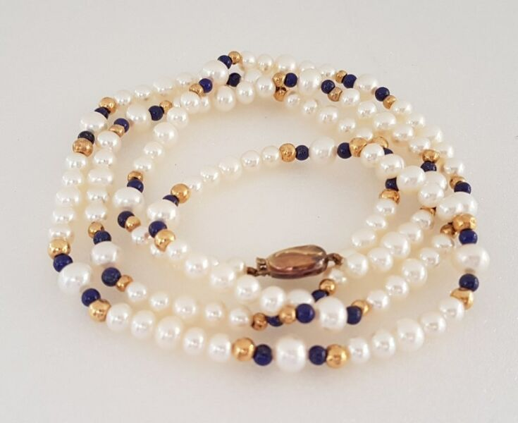 Luxury Royal Jewellery, Designer Freshwater Pearl Necklaces, 585 14K Gold Clasp, Customised Handmade
