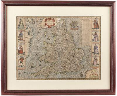 John Speed (1552-1629) The Kingdome of England -1610 Map