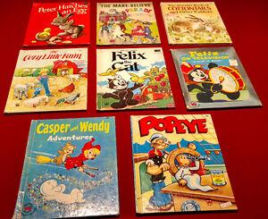 Vintage Wonder Books, Set of 8,  for Children