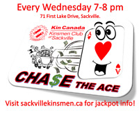 Sackville Kinsmen Chase the Ace Lottery