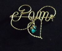 gold wire name pin  PAM with rhinestone