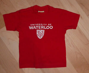 Univeristy of Waterloo T-shirt, size 2T, excellent condition