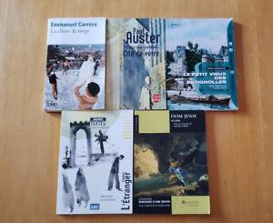 Plusieurs livres/romans utilisés pour le cégep