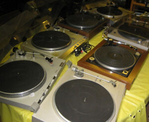 TURNTABLE TURNTABLES RECORD PLAYERS RECONDITIONED 10 TO CHOOSE