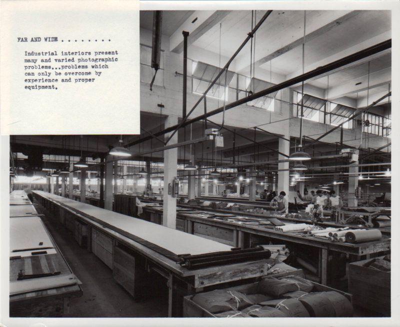 8 x 10 Jack White Advertising Photo Industrial Interior Equipment Sample