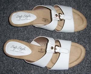 White Hush Puppy Sandals - New