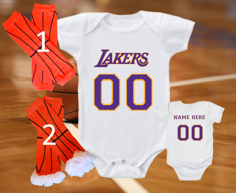 los angeles lakers jersey onesie personalized shirt