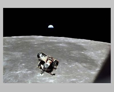 Apollo 11 Lunar Module EAGLE PHOTO Moon Landing Mission,Neil Armstrong,EARTHRISE for sale  Shipping to Canada
