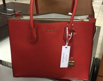 Michael Kors Large Sangria Red MERCER Tote Bag - USED