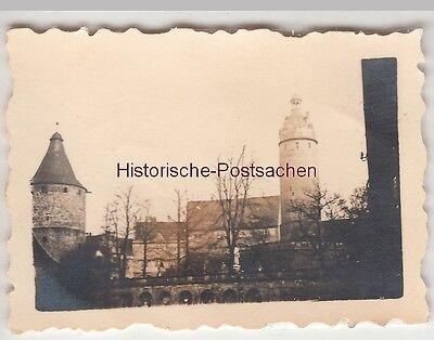 (F13532) Orig. Mini-Foto Altenburg Thür., Schloss Türme 1940er