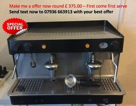 unbranded Espresso coffee Machine made in Italy - Inclusive of Coffee Grinders