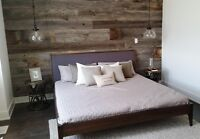 Barn Board and Pallet Feature Walls