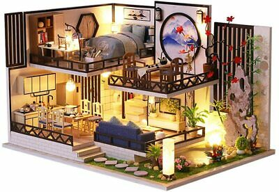 Barbie House 2 Story Dream Furniture Accessories 3D Wooden Miniature House