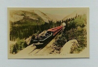 Canadian Pacific Railway Transcanada Limited Postcard Field Bc Train Passengers