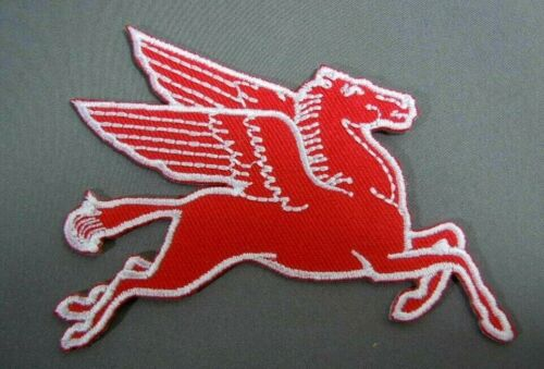 "MOBIL PEGASUS Embroidered Iron-On Uniform-Jacket Patch 3.5"" RF"