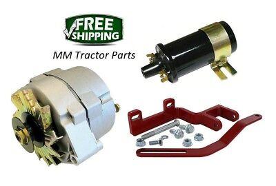 Ih Farmall 140 Tractor 12v Alternator Conversion Bracket Kit - 12 Volt