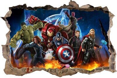 cm  ironman avengers hulk thor STICKER 3D Wandaufkleber  (Thor Wand)