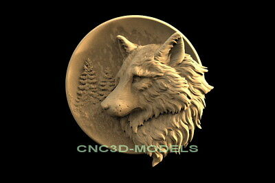 3d Model Stl For Cnc Router Engraver Carving Artcam Aspire Animal Wolf F645